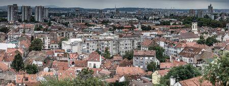 Above view of the old Zemun quarter and New Belgrade (Novi Beograd) on background Reklamní fotografie