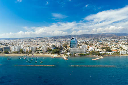 View over the skyline of Limassol. Cyprus Standard-Bild