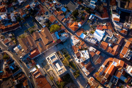 Overhead view of central square in Old Town of Limassol. Cyprus Standard-Bild