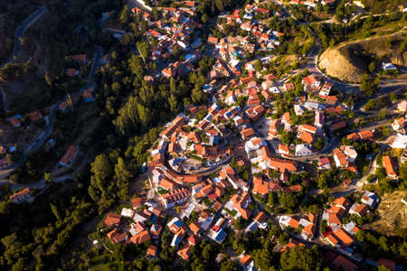 Top view of Foini village and surroundings