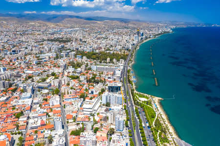 View of Limassol, Cyprus from above Standard-Bild