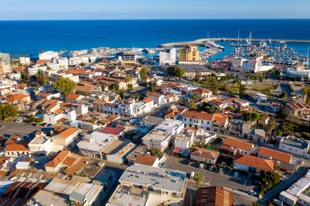 Aerial view of Limassol, Cyprus. Old port area Standard-Bild