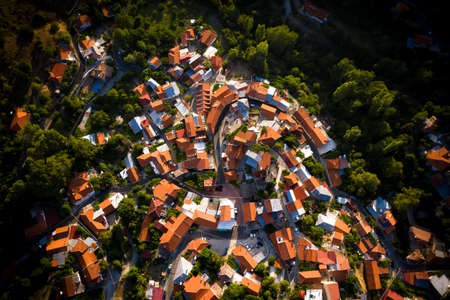 Top view of Foini village, Cyprus.
