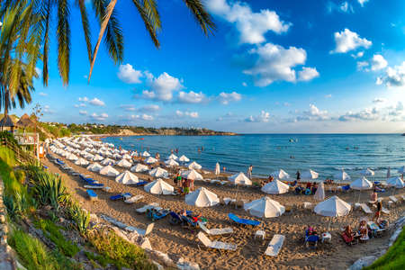 View of Coral Bay Beach. Paphos District, Cyprus