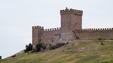 the walls of the Genoese Fortress