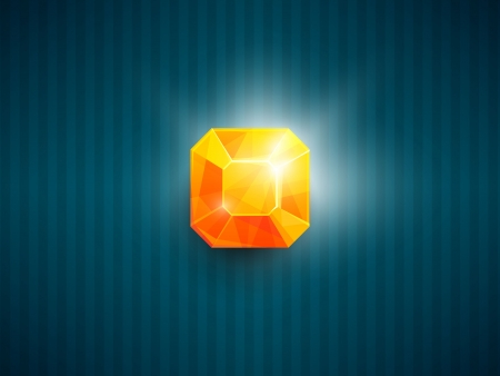 Shiny gem icon Иллюстрация