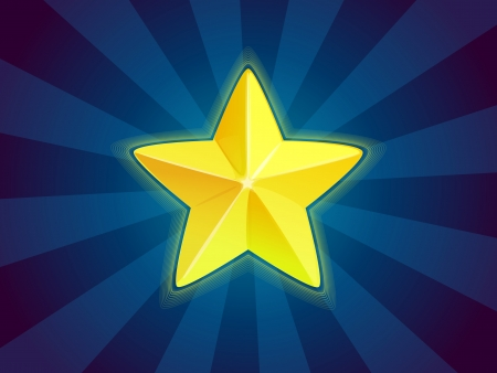 achievment: Shiny star icon Illustration