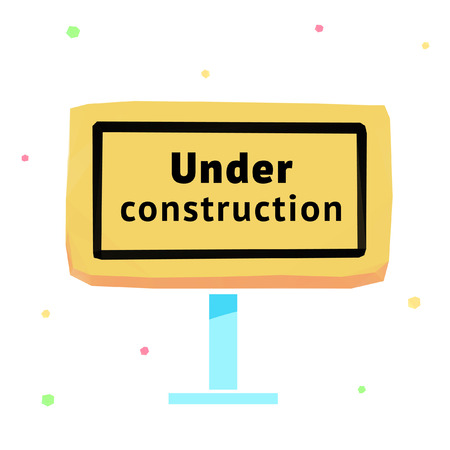 vector sign under construction: Vector sign under construction polygonal illustration