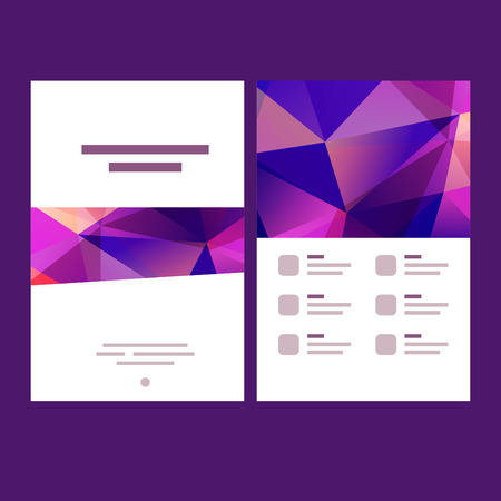 for print: Vector polygonal background and design elements for print layouts