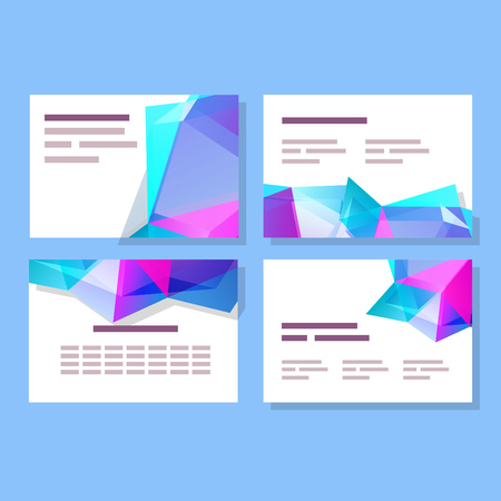 slide show: Polygonal abstract backgrounds and elements for print and digital layouts