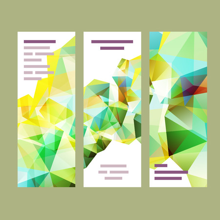 website banner: Vector polygonal design element for advertisment, attention and eye catching