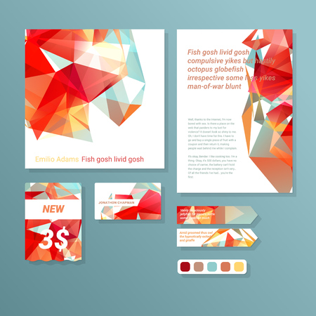 a3: Abstract triangle vector design templates for all purposes Illustration