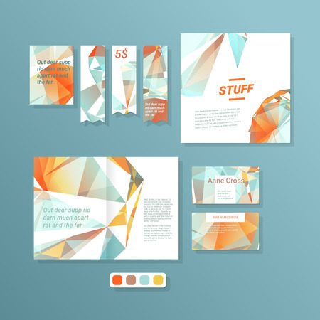 dvd cover: Abstract triangle vector design templates for all purposes Illustration