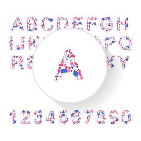 typeface: Vector fresh typeface illustration for presentational purposes Illustration