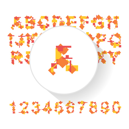 presentational: Vector fresh typeface illustration for presentational purposes Illustration