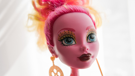 Barbie doll portrait close-up 版權商用圖片