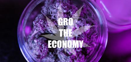 Healing Marijuana concept close-up. Stock Photo
