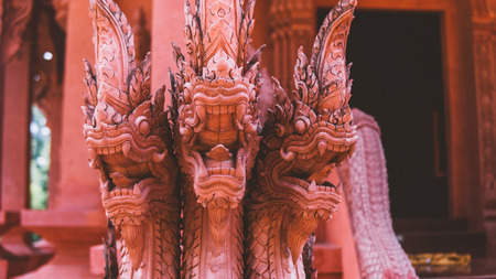traditional Thai statues. Simian traditions and gods of Buddhism in Thailand, honorable Spirits of Thailand