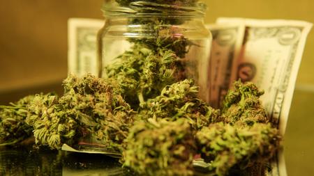 Medical Marijuana concept. medical marijuana dispensary concept