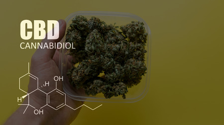 chemical formulas of elements THC CBD in marijuana medical strains