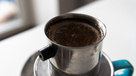 Vietnamese coffee making process