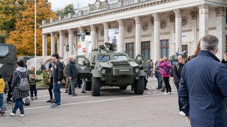 Kyiv, Ukraine - 6 october 2019 : Performance of the contract army of Ukraine.