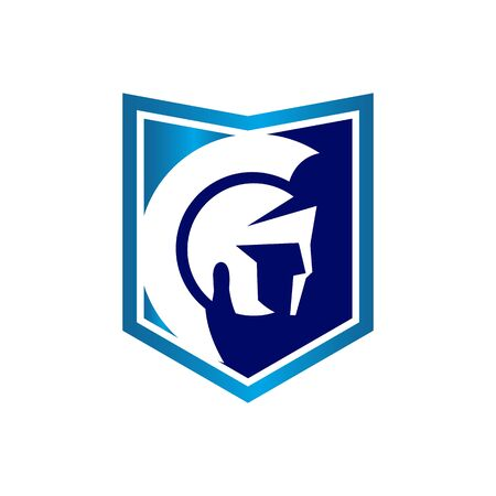spartan helm Logo Template Design Vector, Emblem, Design Concept, Creative Symbol, Icon
