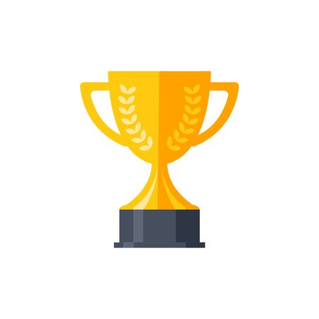 Trophy cup, award, vector icon in flat style Archivio Fotografico - 129706930