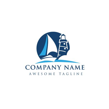 Yacht club badges logos and labels for any use, Иллюстрация