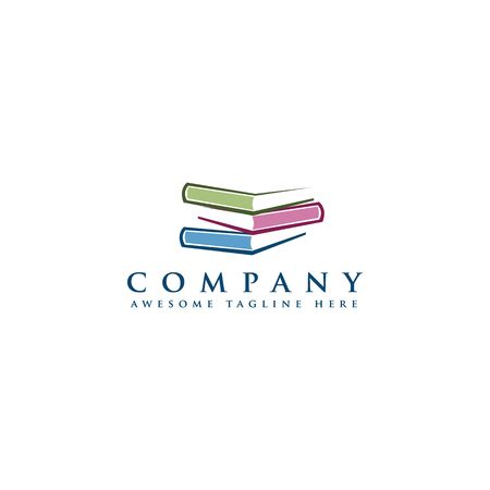 abstract Book Logo and Icon Template, design library icon