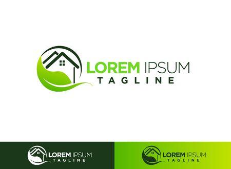 Green House logo Design vector, Nature House Logo Logo