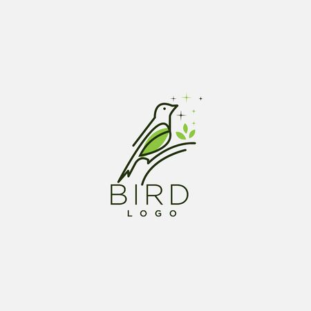 modern bird logo, Flat line design style vector illustrations set of icons and logotype Illusztráció