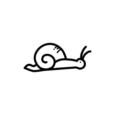 Snail line icon, outline vector sign, linear pictogram isolated on white. Symbol, illustration Stock Illustratie