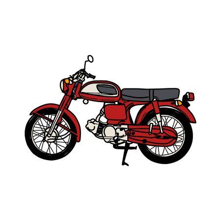 Sylwetka starego motocykla - zabytkowy motocykl Ilustracje wektorowe