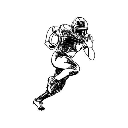 Joueur de football américain, silhouette vecteur abstraite Vecteurs