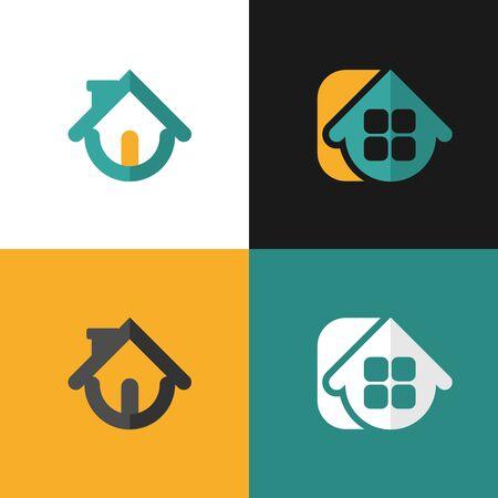 set Home design elements for website or app.