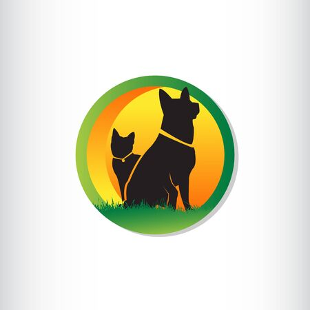 Vector design template for pet shops, veterinary clinics and homeless animals shelters