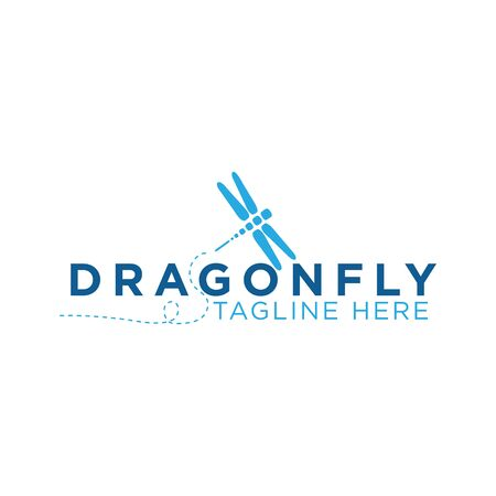 Dragon fly icon with typography letter dragon fly. Dragon fly icon trendy and modern symbol for graphic and web design. Vector illustration EPS.8 EPS.10