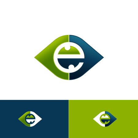 Eye icon vector in modern flat style for web graphic and mobile design. Eye icon vector isolated on white background. Vector illustration EPS.8 EPS.10