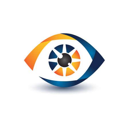 Illustration design eye symbol for your best business symbol. Vector illustration