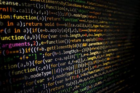 css: Programming code abstract screen of software developer. Computer code development. Stock Photo