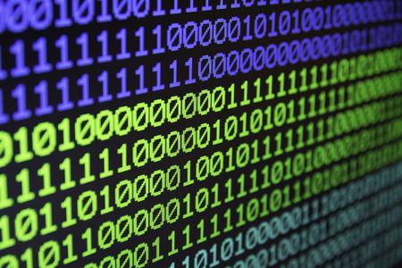 Binary matrix computer data code seamless background. Binary code for programming