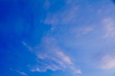 stratosphere: Blue sky with cloud, clean energy power, clear weather background Stock Photo