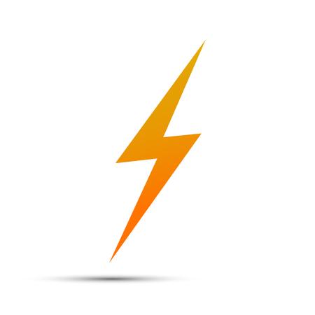 Lightning flat icons. Simple icon storm or thunder and lightning strike isolated. Illustration