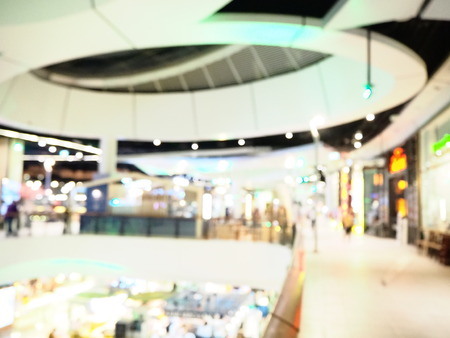 Blurred interior of shopping mall. The modern building concept. 写真素材