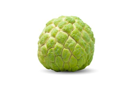 Fresh sugar apple isolated on white background. Food and healthy concept 写真素材