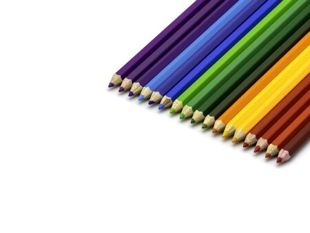 Color pencils isolated on white background with copy space for insert text. Reklamní fotografie