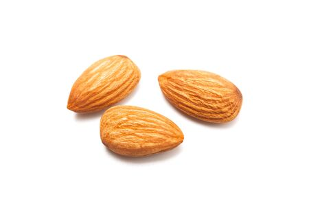 Fresh almond isolated on white background. Food and healthy concept 版權商用圖片
