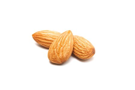 Fresh almond isolated on white background. Food and healthy concept Stok Fotoğraf