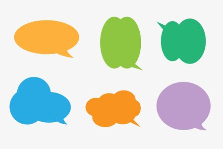 Vector set stickers van tekstballonnen. Lege lege tekstballonnen